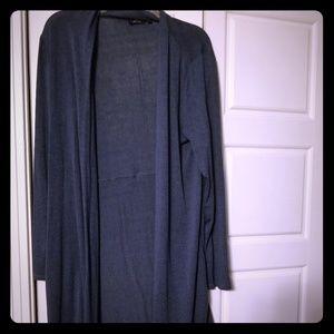 Apt 9 blue heathered long cardigan